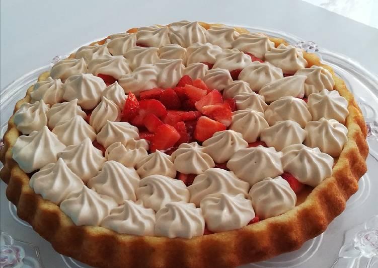 Gâteau à la fraise façon tarte