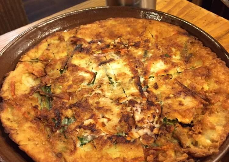 Easiest Way to Cook Yummy Korean Seafood Pancake