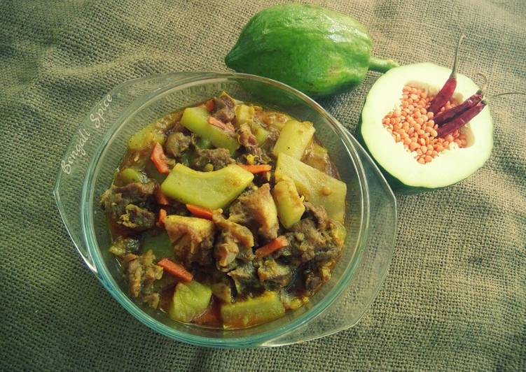Step-by-Step Guide to Prepare Green Papaya and Beef Curry with Lentil ♥