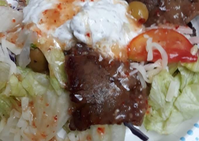 Lazy Sunday Afternoon Gyro Salad