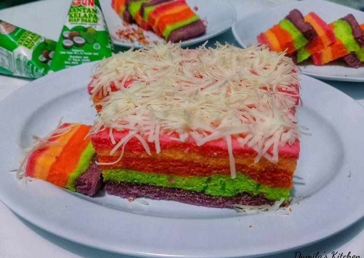 92. Steamed Rainbow Cake