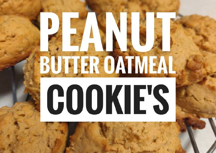 Peanut Butter Oatmeal Cookies🍪