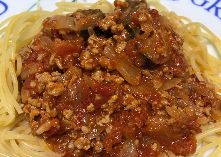 Easiest Way to Make Any-night-of-the-week Meat sauce pasta