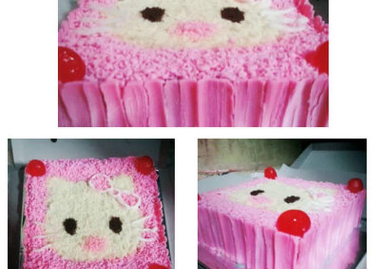 Resep Hello Kitty Basic Rainbow Cake Ny Liem Oleh Bunda