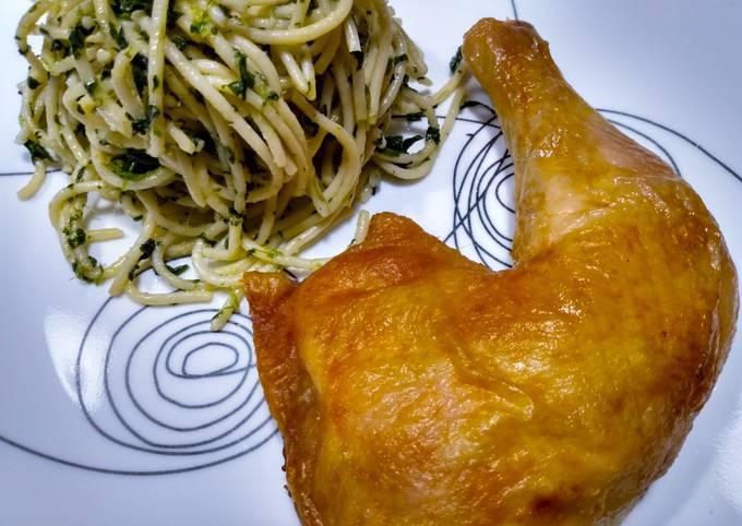 Naked roast chicken