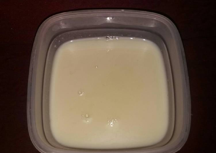 Simple Way to Make Favorite Condensed Milk (Home_made)🍼