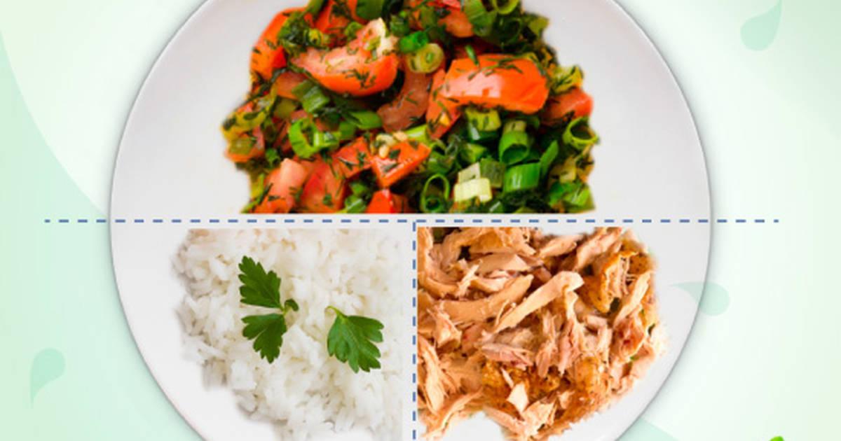 Pollo Desmechado Con Vegetales Y Arroz