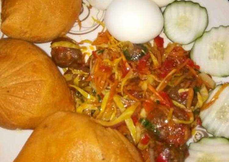 Moimoi with meat balls and cabbage sauce