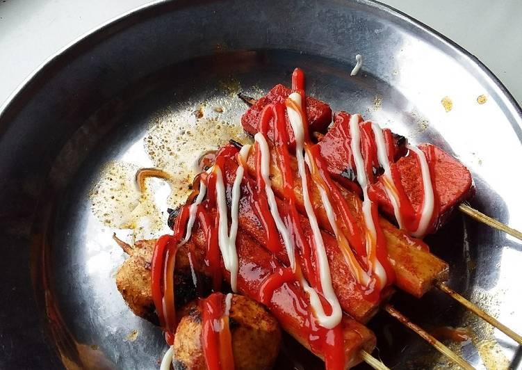 Bumbu oles bakso dan sosis bakar sederhana
