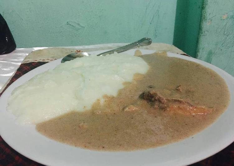 Simple Way to Prepare Homemade Chicken with peanuts stew