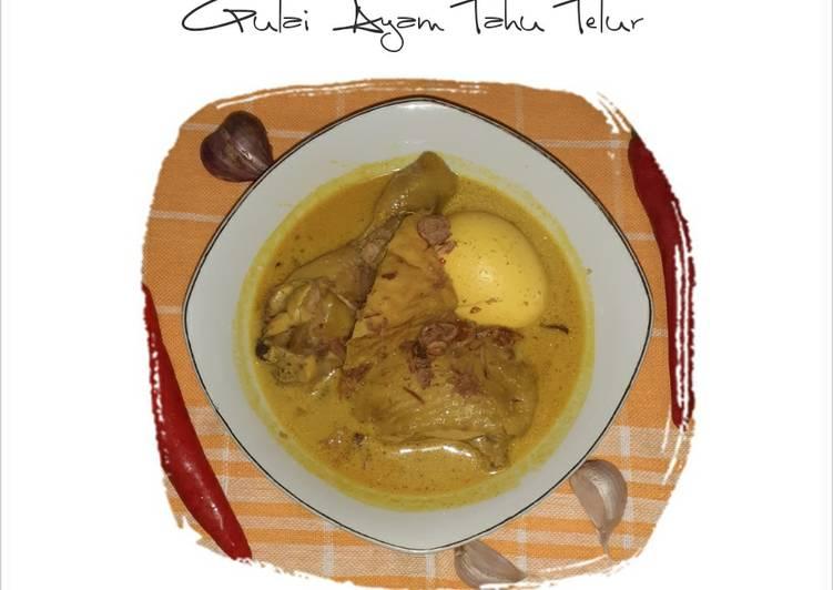 Gulai Ayam Tahu Telur