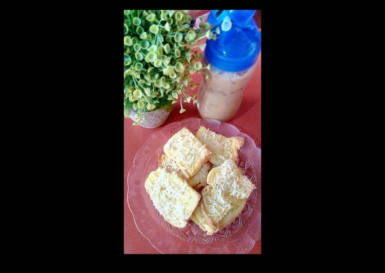 Resep Garlic bread ala2 & Milo thai Terenak