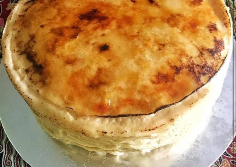 Creme brûlée Crêpes Cake