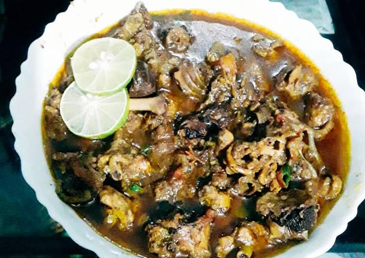 Mushroom chicken curry.