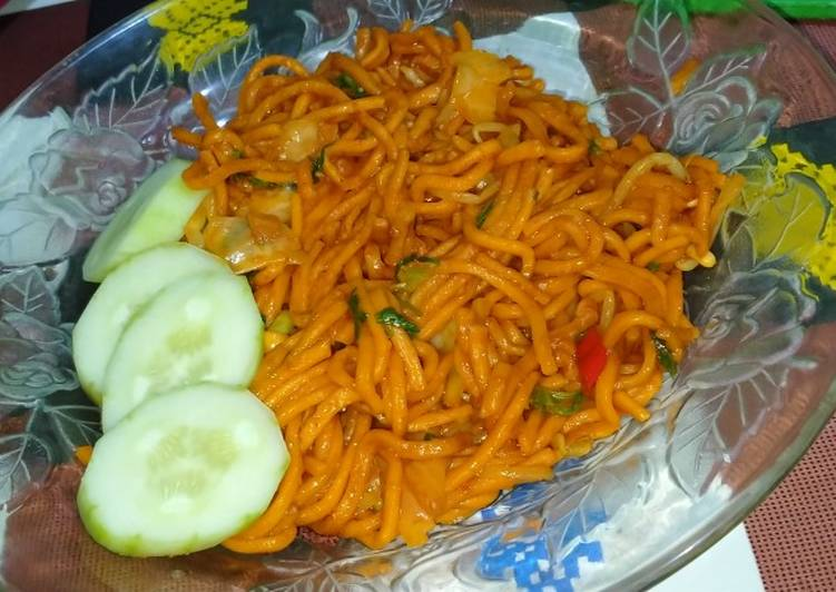 Mie aceh goreng simple