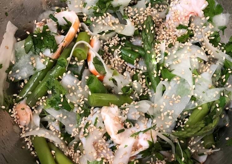 recette Salade de radis noir et asperges vertes Le plus simple