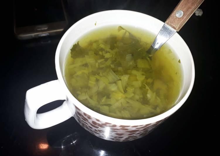 Sopa verduras para bajar de peso