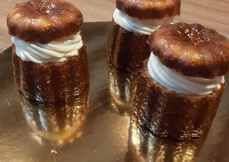 Recette Parfait Cannelés à la ganache montée à la vanille