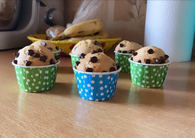 Muffin au pepite de chocolat