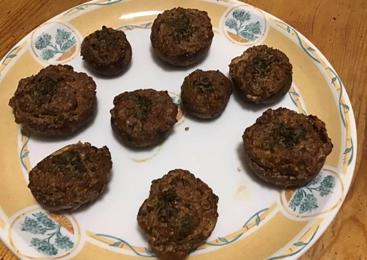 Recipe of Homemade Champignons farcis feta tomate et basilic