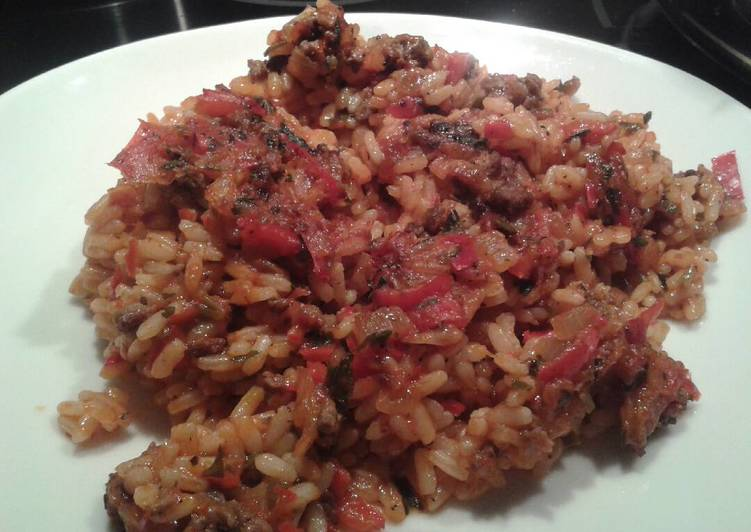 Recipe: Appetizing Baked rice with minced meat