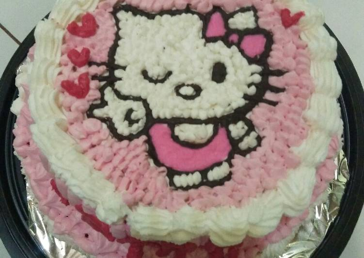 Birthday Cake sederhana - cookandrecipe.com