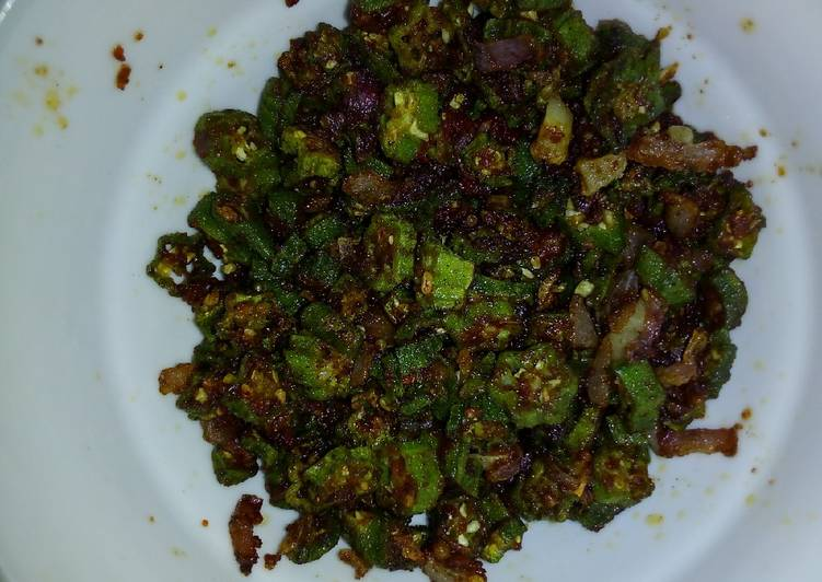 Okra dry fried #vegancontest