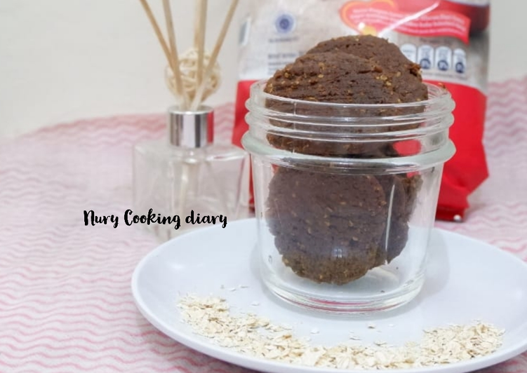 Oat chocolate Cookies simple