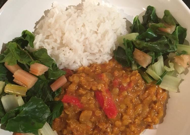 My latest dhal recipe...this one uses whole spices & coconut milk