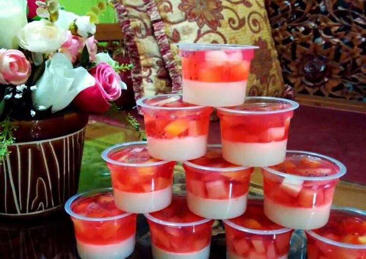 Puding Cocktail Merah Putih spesial HUT RI 71