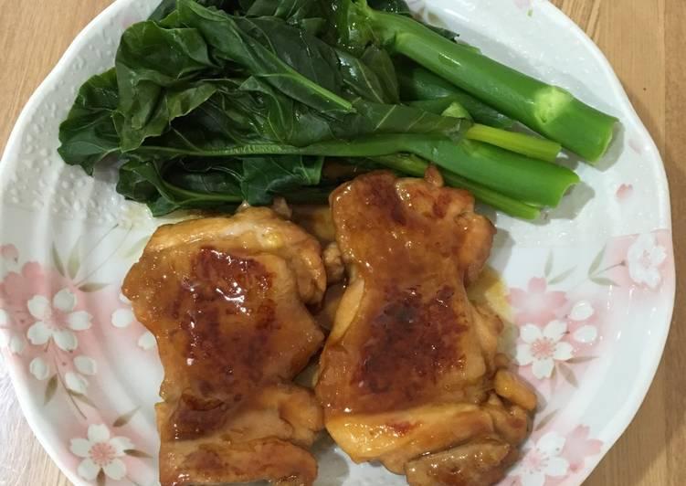 Teriyaki Chicken with Kai Lan