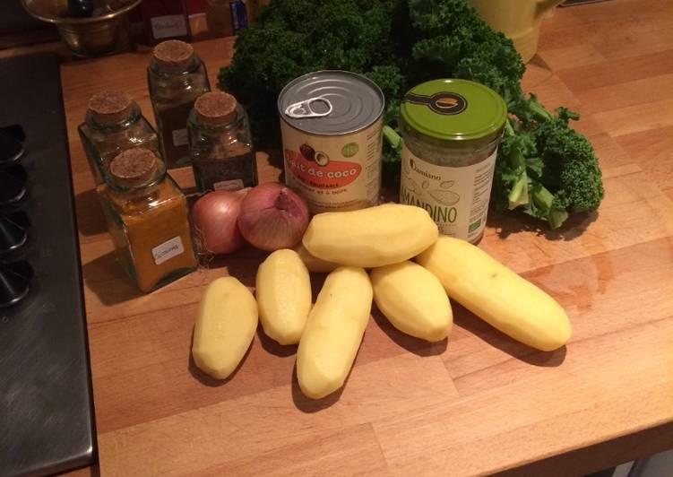 Curry de chou Kale Et pommes de terre