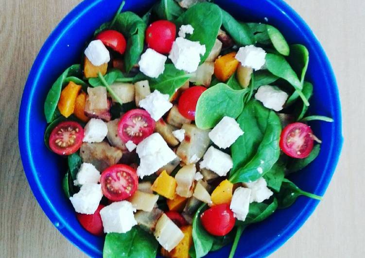 Light roast veg and feta salad