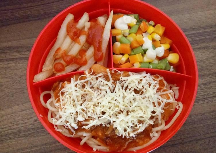 Spaghetti homemade super sehat (Bekal anak)