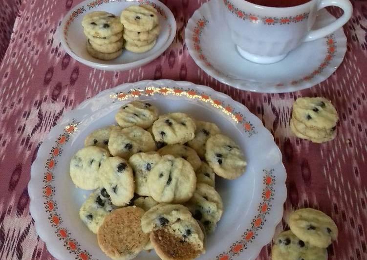Eggless chocolate chip Cookies (versi teplon)