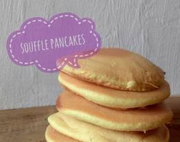 Fluffy souffle pancake    pancake lembut menul menul