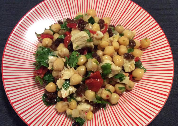 Salade de pois chiche et poulet