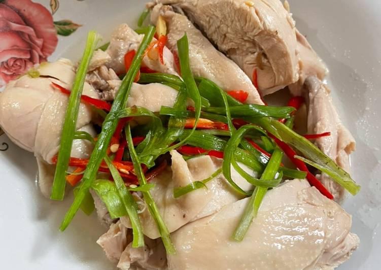 Ayam Rebus Ala Ta Wan gampang, sehat dan nikmat