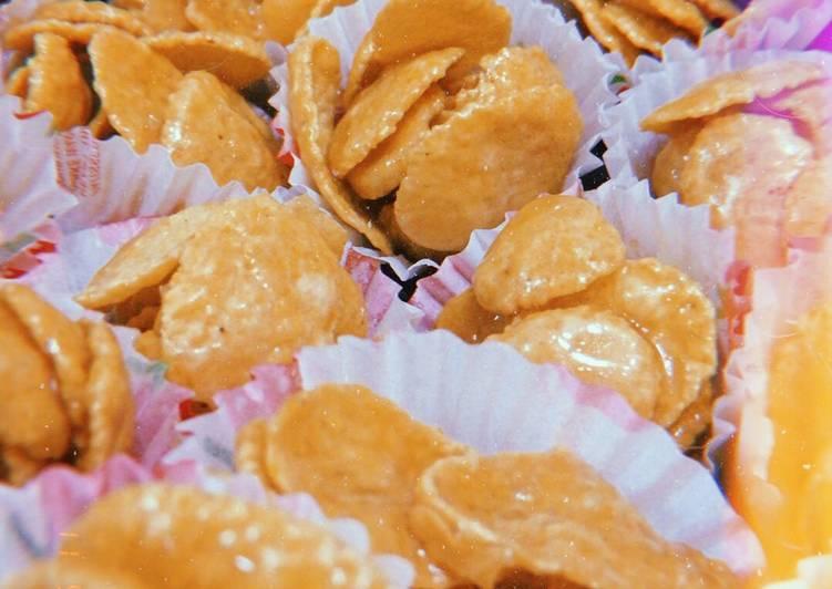 Resepi:  Cornflakes Madu  Enak