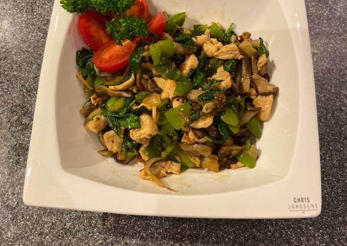 Quick chicken wok recipe
