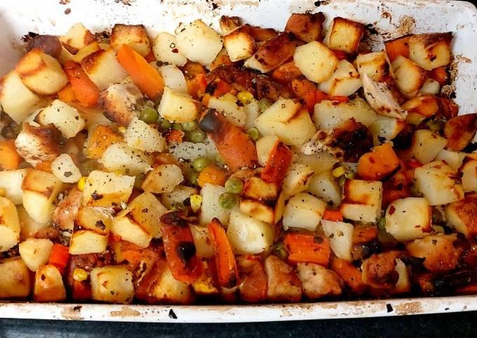 My Spicy Chicken & Veg Roast 😀#Mainmeal
