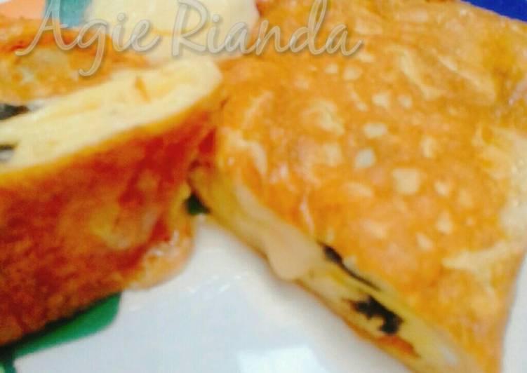 Resep Omelet Keju Nori/Cheese n Nori Japanese Egg Omelette-Tamagoyaki Yang Mudah Bikin Ngiler