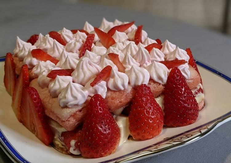 Comment Préparer Des Fraisier aux biscuits roses#dessert