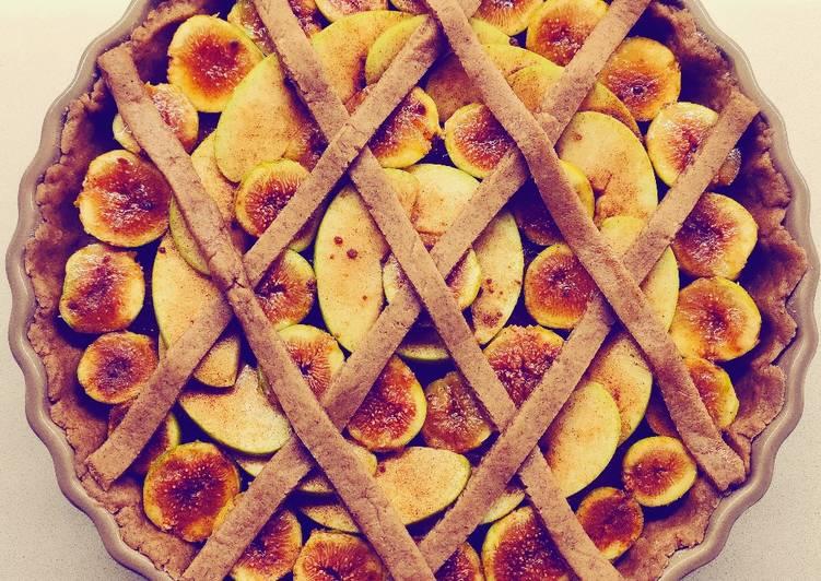 Crostata di mele e fichi al Calvados