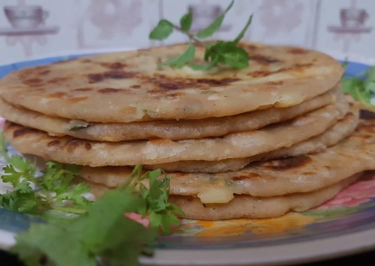 Step-by-Step Guide to Prepare Favorite Potato cheese Paratha recipe cheese Paratha recipe unique style