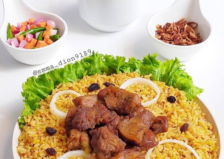 Langkah Mudah untuk Membuat Nasi Kebuli Daging Sapi 🐄 , Lezat Sekali