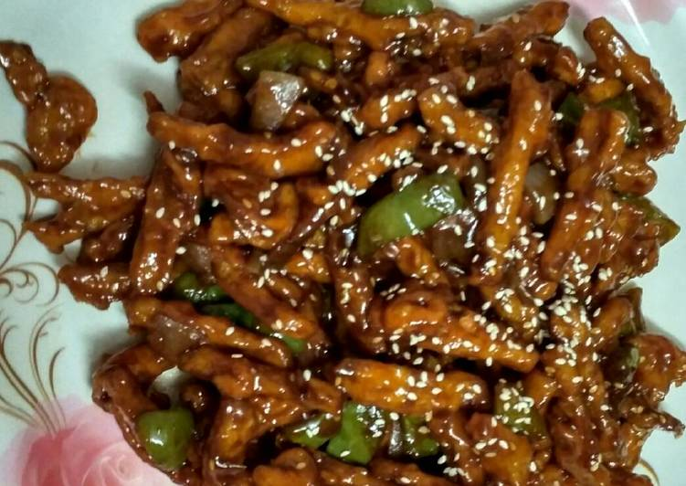 Simple Way to Prepare Ultimate Crispy sesame honey chilly potatoes