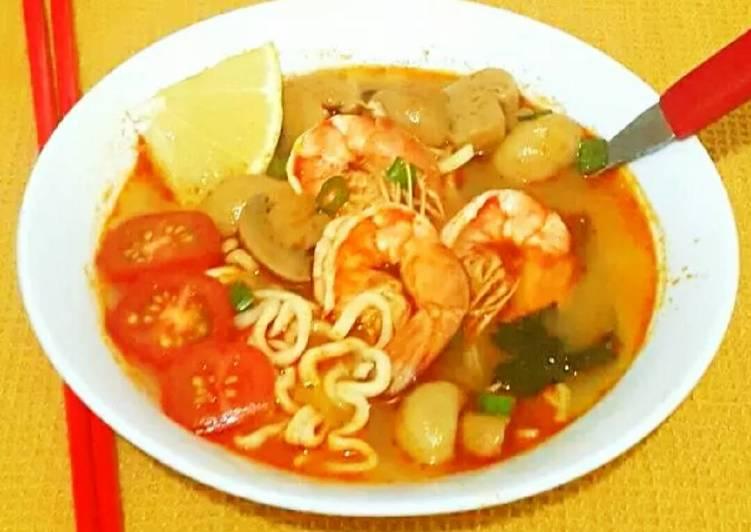 Tom Yam Noodle Soup#posting rame2 sop