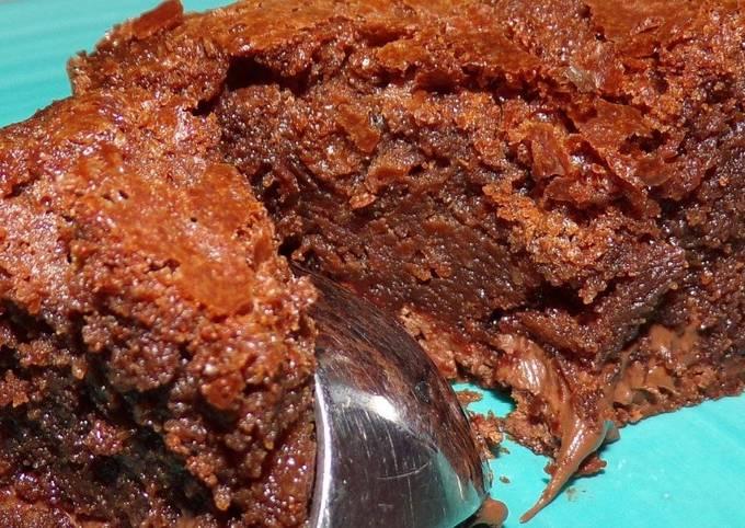 Brownie Chocolat cœur nutella