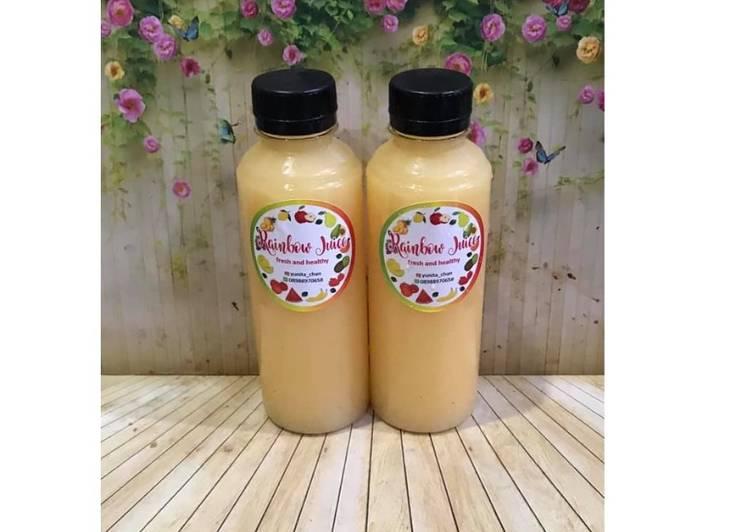 Cara membuat Diet Juice Jicama Pear Orange Passion Fruit